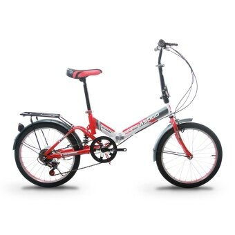 ASOGO A1720621-BC 20 Inch Foldable Bicycle Folding Bike with 6 Speed Gear System