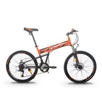 GAMMAX GM240111-BC 24 Inch Foldable MTB with Shimano 21 Speed(Matte Orange)