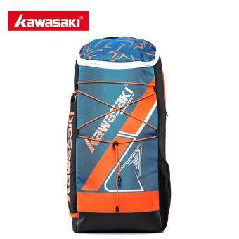 Kawasaki KBB-8230 Badminton Bag Backpack Three Racket Capacity Men Women Badminton Tennis Racket Sports Bags(Blue)