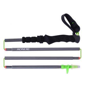 Outdoor Trekking Poles Sticks Folding Telescopic Light WeightWalking Hiking Sticks Poles Adjustable Anti-ShockGreen S