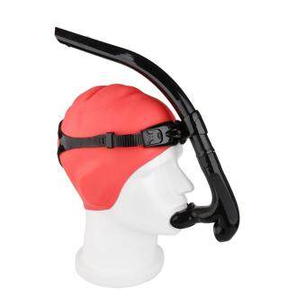 Swimming Snorkel Diving Swimming Tube Center Swimming Snorkel holder for Adults & Kids Black White Colors