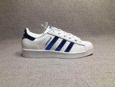 Adidas Superstar Blue And Red Stripes