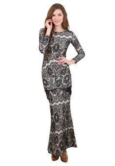 Baju Kurung Lace Overlay - Vercato Dulcie - Black