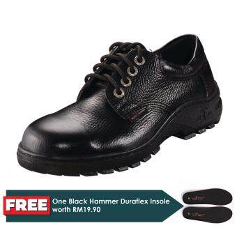 Black Hammer Classic Series Low Cut Lace Up Safety Shoes ...