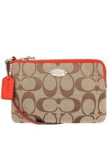 coach outlet 50 off 9mb2  Coach 64375 Signature Corner Zip Wristlet Red