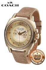 coach watch outlet 1em1  Coach Boyfriend Trendy Shiny Watch Gold 14501363