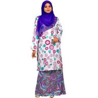 Cotton & Silk - Baju Kurung Pahang - Valentino Crepe Matching - 9209 - Kurung Pahang Honey -D2 (Maroon)
