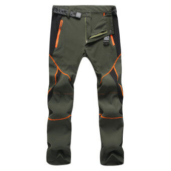Every day special outdoor quick-drying pants for men and womentrousers Slim fit summer stretch jacket pants thin loosemountaineering pants (Men's dark green)