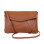 Fancyqube Envelope Satchel Shoulder Cross-Body Bags (Brown)