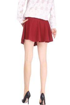 Pleated Short Skirt - Skirts