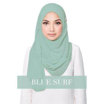 [Hijab & Me ] Naelofar Hijab Darling Love - Blue Surf