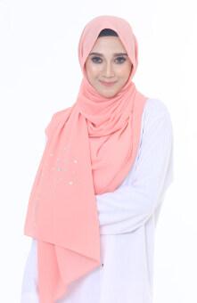 Hijab Fesyen Rindu Long Shawl Apricot
