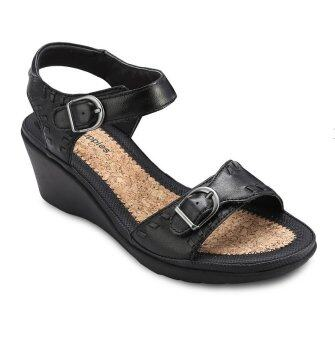 Hush Puppies NOELLE RUSSO Platform Sandals (Black)