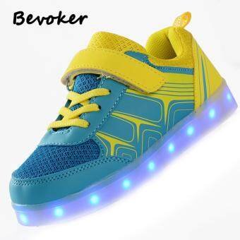 Malaysia Prices Glowing Luminous Sneakers Children Shoes With Light Up Sneakers For Kids Unisex