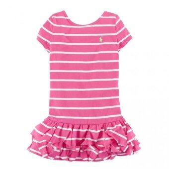 Malaysia Prices Ralph Lauren Short Sleeve Stripe Ruffle Dress ( Toddler Girl )