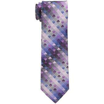 Malaysia Prices Van Heusen Mens Sparky Geo Tie, Berry, One Size