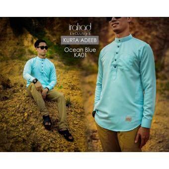 Malaysia Prices Baju Kurta : Kurta Adeeb by Irahad Exclusive ( Blue Ocean )
