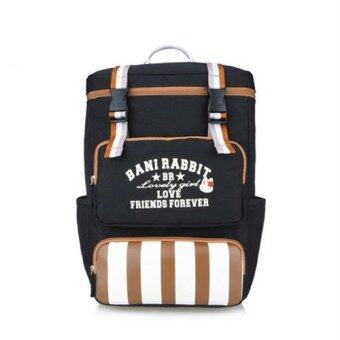 Malaysia Prices Bani Rabbit 2428W Fashion Backpack (Black)
