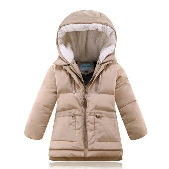 Malaysia Prices Thick Down Jacket Military Equipment Winter Wadded Jacket Kids(Khaki)