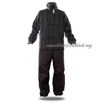 Malaysia Prices GIVI RRS07 Rider Tech Rainsuit (Black Grey)-Size 2XL