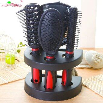 Malaysia Prices 5pcs *Manufacturers wholesale new mirror comb sets of 5 pieces of plastic household appliances, household appliances, hair brush ten yuan boutiqueColor mixing