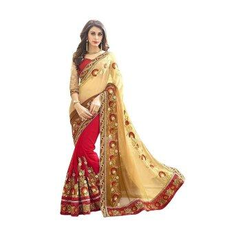 Malaysia Prices Indian Ethnic Georgette Beige Embroidered Saree Sari D.No SAR1746