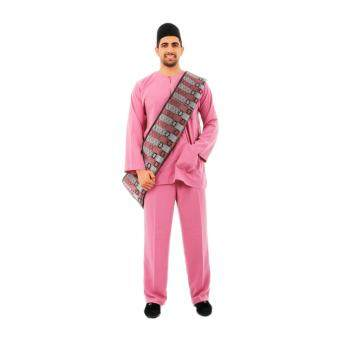 Kamdar Jumaart Mens Baju Melayu Johor-Buble Gum