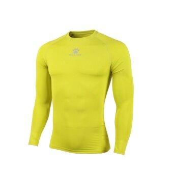 Kelme K15Z705 Men Quick-drying Unitard Long Sleeve Football Sport T-shirt Straitjacket (Fluorescent Yellow)
