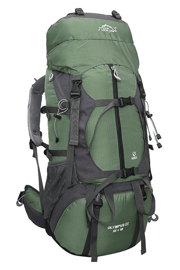 Local Lion Steel Frame Water Resistant Hiking Backpack 65L (Army ...