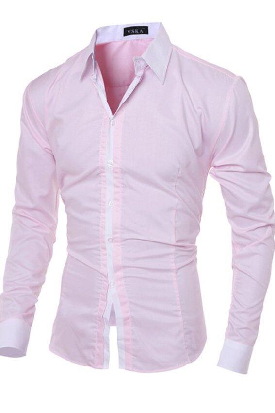 Slimming Checked Pattern Long Sleeve Shirt for Men (Black ...