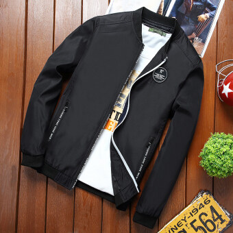 Men spring New style jacket (Black)