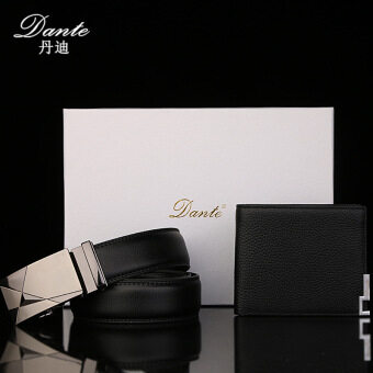 men's leather wallet (Black (leather belt NO.5))