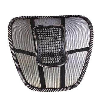 mesh cloth car seat cushion lumbar waist back support black lazada malaysia. Black Bedroom Furniture Sets. Home Design Ideas
