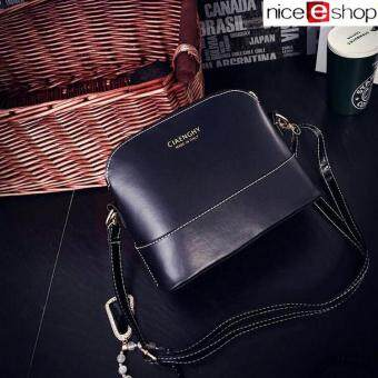 niceEshop Womens PU Leather Shoulder Bags Casual Messenger Handbag Black