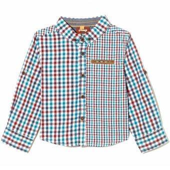 PONEY Boy Checked Shirt (Blue)