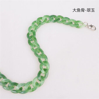 Resin bone ring series bag chain shoulder strap bag fish (Big fish bone-Jade) (Big fish bone-Jade)