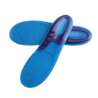 Top Quality Silicone Sport Insoles GEL Shoe Inserts Pads OrthopedicInsoles Foot Care Protector (Blue)
