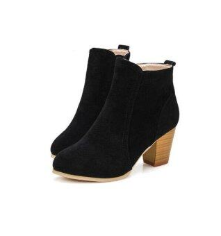 Simple Women39s Leather Spring  Fall Lace Ankle Boots Mori Girl Trend Shoes