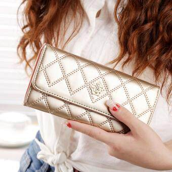 Women Lady Leather Clutch Wallet Long PU Card Holder Purse Handbag BA004-Gold