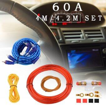 10GA Car Amplifier Wire Wiring Set Car Audio Amp Power CableKit+60A Fuse MA663