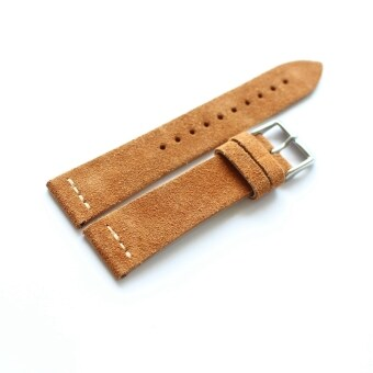 22mm retro suede leather yellow men's watch strap leather watch strap