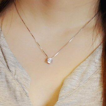 Fantastic Flower 925 Sterling Silver Clavicle chain Zircon Pendant Necklace Fashion women
