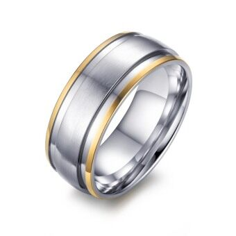 Fashion Stainless Steel Ring for Men Women Engagement WeddingClassic 18K Gold Plated Rings Jewelry