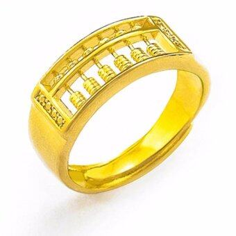 Fortune Golden Abacus Men's Ring - 24K Gold-Plated