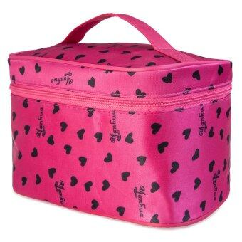 Heart Shape Cosmetic Bags Bath Wash Makeup Make Up CosmeticOrganizer Storage Travel Toiletry Bags