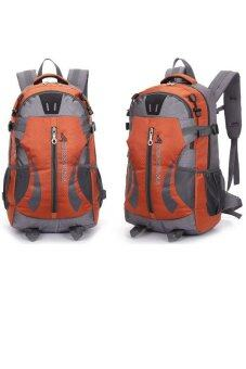 Hiking Backpack Folding Handy Backpack Daypack Climbing Camping Outdoor Sports Travel Backpack 40L(Orange)