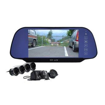 linko car rear view mirror monitor reverse parking camera visible parking radar detector. Black Bedroom Furniture Sets. Home Design Ideas