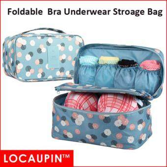 LOCAUPIN Portable Travel Bra Underwear Clothes Cosmetics BigStorage Bag (Blue Color)
