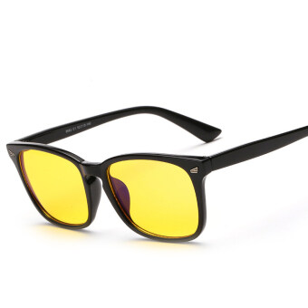 New Anti Blue Rays Computer Goggles Reading Block Out Blue LightGlasses Men Radiation-resistant Computer Gaming Glasses (Yellow)