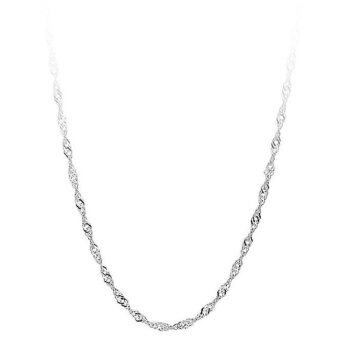 Okdeals Silver Plated Water Wave Chain Necklace Jewelry silver